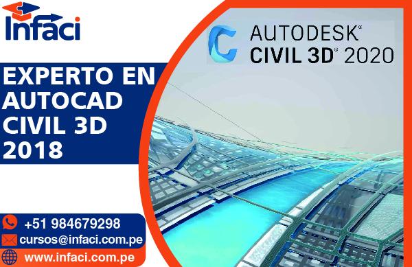 Experto en AutoCAD Civil 3D 2018